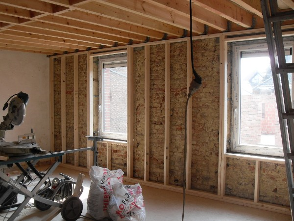 Isolation et finition de murs int rieurs nivelles neltane - Isolation des murs interieurs ...